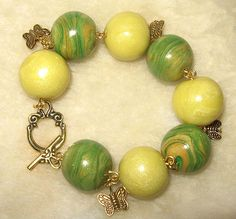 Easy striped beads