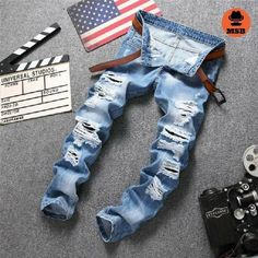 2017 Designer Men's Ripped Jeans  BUY NOW ONLY FOR $68.00  Special discount for ALL is 12% with code: MSB12 !♛ http://www.mens-style24.com ♛! Free worldwide shipping!  #mensfashion #mensfashions #Mens #Fashion #FashionBlog #Dapper #jeans#Guys #Boys #streetstyle #Urban #menswear #menstyle #shirt #usa #shirts #jackets #coat #coats #hoodies #denim #jeans #pants #streetwear #streetstyle #newrelease #sale #blazer #style #menstyle