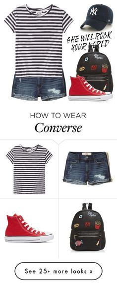 """May 5th (tfp) 3540"" by boxthoughts on Polyvore featuring Hollister Co., Cheap Monday, Ollie & B, Converse, '47 Brand and tfp"