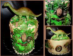 torta, cake dinosaury