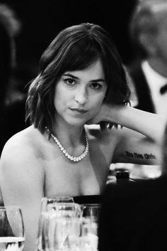màu đen và trắng, sang trọng, thời trang, cô gái, xinh đẹp, dakota johnson