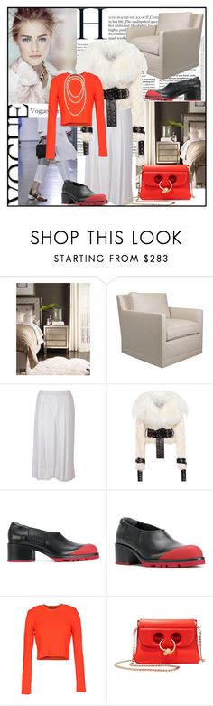 """""""Red sweater"""" by din-sesantadue ❤ liked on Polyvore featuring Hooker Furniture, Jil Sander, P.A.R.O.S.H., Monse, Proenza Schouler and J.W. Anderson"""