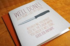 Well Done - Steak Card - Congrats. $4.00, via Etsy.