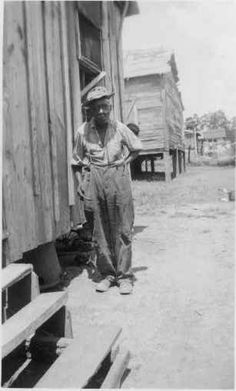 """JORDON SMITH, age 86, was born a Slave in Georgia.  """"My gramma and granpa was full-blooded Africans and I couldn't unnerstand their talk.""""  (Slave Narratives, Federal Writers' Project 1936-1938)"""