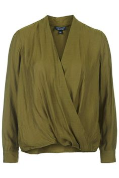 Drape Front Blouse | TOPSHOP saved by #ShoppingIS