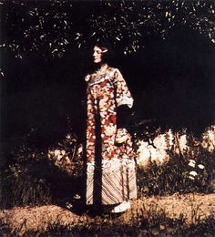 Emilie Flöge, sack dress designed with Gustav Klimt, 1906