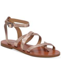 13bcdf77bca5 Lucky Brand Women s Aubree Flat Sandals Gold Flat Sandals