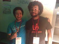 Jonathan Igner and buddy at LA Startup Week 2014