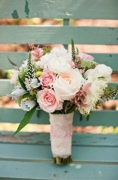 ♡ Pink #country #wedding #Bouquet ... For wedding ideas, plus how to organise an entire wedding, within any budget ... https://itunes.apple.com/us/app/the-gold-wedding-planner/id498112599?ls=1=8 ♥ THE GOLD WEDDING PLANNER iPhone App ♥  For more wedding inspiration http://pinterest.com/groomsandbrides/boards/ photo pinned with love & light, to help you plan your wedding easily ♡