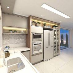 42 veces he visto estas buenas alacenas de cocinas. Kitchen Cabinet Interior, Kitchen Cabinetry, Home Decor Kitchen, Interior Design Kitchen, Kitchen Furniture, Modern Kitchen Renovation, Modern Kitchen Design, Kitchen Remodel, Minimal Kitchen