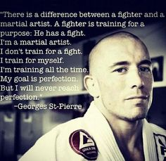Attached is Georges St. Pierre describing the difference between a fighter and martial artist. Martial Arts Quotes, Martial Arts Workout, Different Martial Arts, Mixed Martial Arts, Taekwondo, Mma, Kenpo Karate, Kyokushin, Ju Jitsu