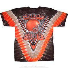 4738a4bd1 Cleveland Browns Men s Majestic V-Dye Tie -Dye Logo T-shirt