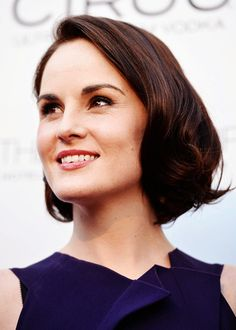 Look at Michelle Dockery, being all classy with her classy hair and her class.