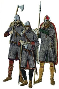 The ' Huscarls' or Housecarls were the elite of the Saxon army.