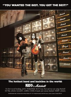 KISS Collectible Paul Stanley Ace Frehley Marshall Guitar Amps Stand-Up Display