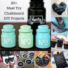 More than 20 Must Try Chalkboard DIY projects