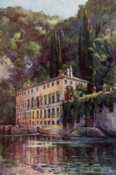 Villas, Lake Como Italy, Italian Villa, Dream Vacations, Italy Travel, Poster Size Prints, The Good Place, Places To Go, Beautiful Places