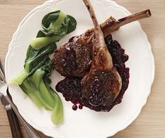 lamb chops with concord grape sauce recipe
