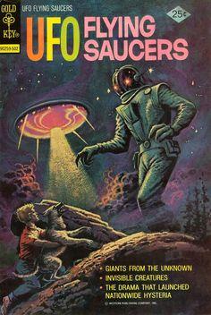 UFO Flying Saucers #5 (Gold Key, 1975) — Designspiration
