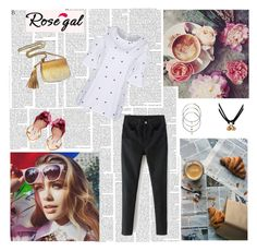"""rosegal denim style"" by antonija2807 ❤ liked on Polyvore featuring Miu Miu, Gucci, pretty, jeans and rosegal"