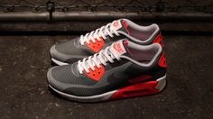Nike Air Max 90 JCRD – Grey / Red – White