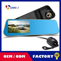 Car DVR 4.3'' Full  HD 1080P Dual Lens Blue Review Mirror Digital Video Recorder Auto Navigator Registrator Camcorder dash cam