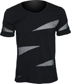 Men's shirt with net triangle inserts