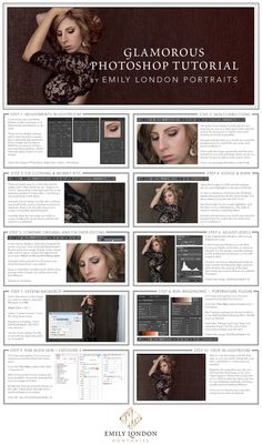 In this tutorial, Utah Glamor Portrait Photographer, Emily London, will teach how to edit a modern glamour portrait in Photoshop. Photoshop For Photographers, Photoshop Photography, Photography Tutorials, Digital Photography, Photography Tips, Modeling Photography, Lifestyle Photography, Editorial Photography, Portrait Photography