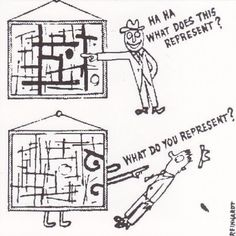 How to Look at Modern Art (detail) - Ad Reinhardt Completion Date: 1946 Style: Expressionism Series: Art Cartoons Genre: caricature Ad Reinhardt, Cubist Paintings, Art Design, Magazine Art, Musical, Art And Architecture, Art History, Art Quotes, Modern Art