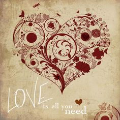 all you need is love.  vector art.