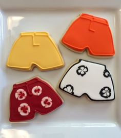 Totally rad swim trunk cookies made by Bomblastic cookies. Cookie Cutter available at CookieCutterKDom.com