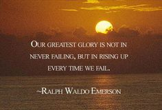 quotes about transcendentalism | Inspirational Quote: Never Give Up | Well-Being Inside and Out