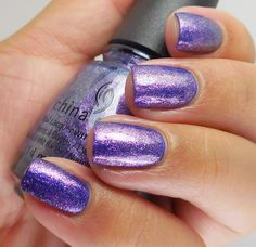 China Glaze:  Don't Mesh With Me (over Combat Blue-ts) ... from the China Glaze Rebel Collection, Fall 2016