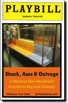 I'd have given her $1. Hilarious Mini-Melodrama on My Subway! by @sothenstories  SHOCK, AWE & OUTRAGE!