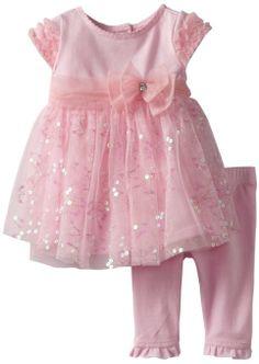 Amazon.com: Nannette Baby-Girls Newborn 2 Piece Knit Pant And Flower Dress Set, Blush Bride, 0-3 Months: Clothing