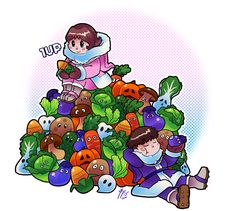 The Ice Climbers with all the Vegetables.