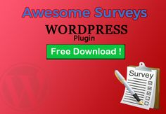 Best Free deal for this month- Free WordPress plugins collection Free Download now today:http://dealmirror.com/product/awesome-surveys-wordpress-plugin/