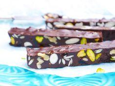 Gezonde chocoladerepen met noten