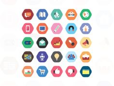 Flat style cool icon set on Behance