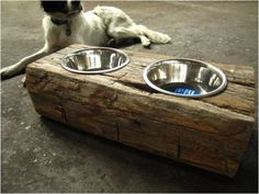 Wooden Pet Feeder - Find Fun Art Projects to Do at Home and Arts and Crafts Ideas