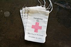 Personalized wedding favor bags muslin 3x5. by ClementineWeddings, $31.25