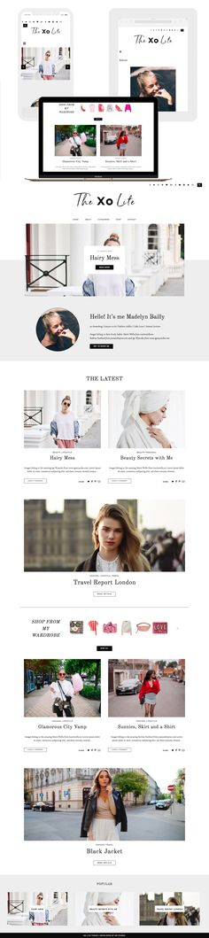 XO Lite Responsive Wordpress Theme for Fashion and Lifestyle Bloggers by MunichParis Studio Homepage features Lastest Posts Slider, Styled About Widget, Shopping Widget, Related Posts Widget, Popular Post Widget, Sticky Navigation Bar, Search and Social Media Widget. Minimal, Feminine and Simplistic Wordpress Theme Blog Design. Fully Responsive. For more Themes visit us MunichParis Studio.