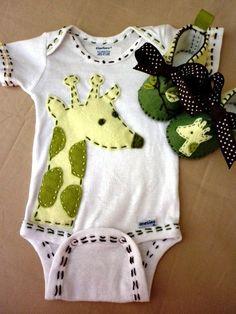 Giraffe Onesie/ baby-grow by Fiesta Kids Boutique, Etsy
