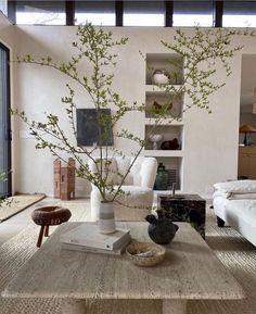 Niche décorative dans le mur Home Living Room, Living Room Decor, Living Spaces, Kitchen Living, Interior Natural, Interior Architecture, Interior And Exterior, Home Decor Inspiration, Decor Ideas