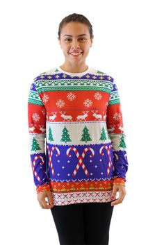 15 BUY NOW This bright and decorative holiday scene gives a nod to  Christmas sweaters from e0c60cf6a