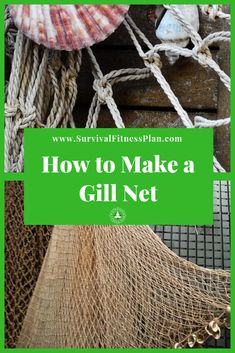 Learn how to make a gill net for catching food such as birds and fish in a survival situation + Get Your FREE Useful Knots Cheat Sheet! Survival Quotes, Survival Life, Survival Food, Wilderness Survival, Survival Prepping, Survival Skills, Survival Essentials, Emergency Preparedness, Survival Items
