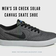 c48b04f8e7fd MEN S SB CHECK SOLAR CANVAS SKATE SHOE.