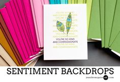 Sentiment Backdrops Video by Jennifer McGuire Ink