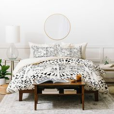 Dash and Ash Under The Sun Duvet Cover Set (Queen - 3 Piece), Black, Deny Designs Marble Duvet Cover, White Duvet Covers, Bed Covers, Duvet Cover Sets, Boho Duvet Cover, Grey Duvet, White Bedding, Bed Bath & Beyond, Home