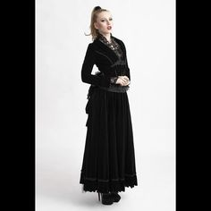Y-614 black women gothic Lace short jacket with chinese knot